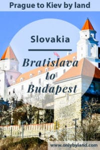 A visit to the points of interest of Bratislava before taking the bus to Budapest