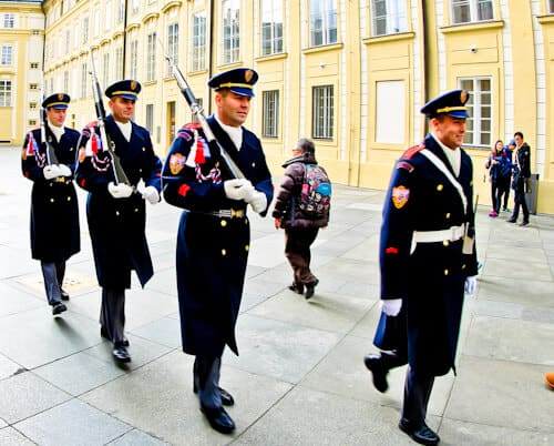 Things to do in Prague, Czech Republic - Guards at Prague Castle (Hradcany Castle)
