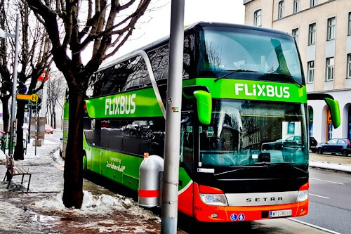 Bus from Prague to Vienna