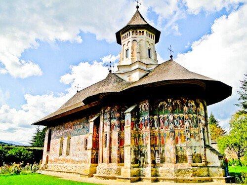Suceava Romania - Moldovita Monastery built by Petru Rares