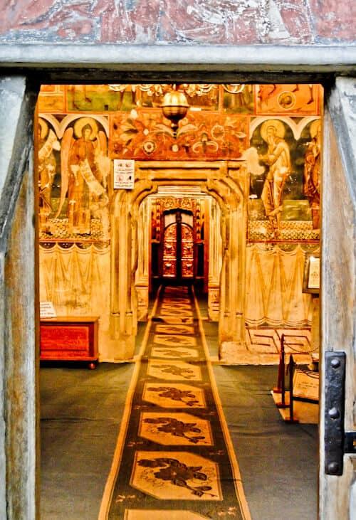 Suceava Romania - Voronet Monastery Interior, Suceava