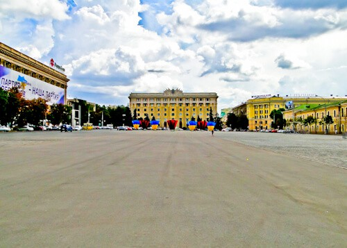 Freedom Square, Kharkiv, Ukraine