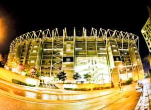 St James' Park, Newcastle United, location