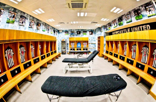 St James' Park Newcastle United - Home team dressing room