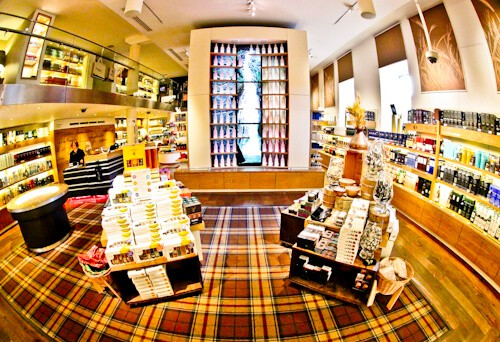 Buying whisky at the Scotch whisky experience store