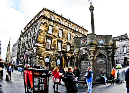 Mercat Cross, Mercat Tours, Royal Mile, Edinburgh
