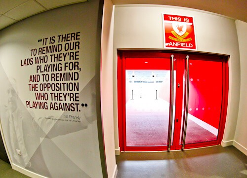 This is Anfield Sign - Liverpool FC stadium tour