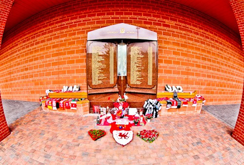 Hillsborough Memorial and Eternal Flame, Anfield, Liverpool FC