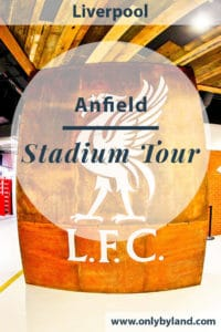 A stadium of tour of Anfield, the home of Liverpool FC.
