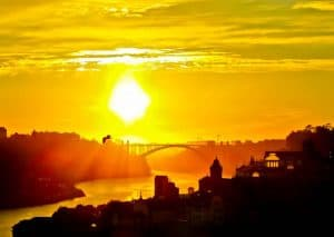 Things to do in Porto Portugal - Dom Luis I Bridge at Sunset
