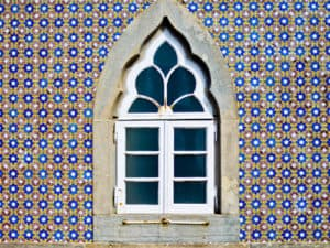 Tiled Portuguese window will tiles and azulejos