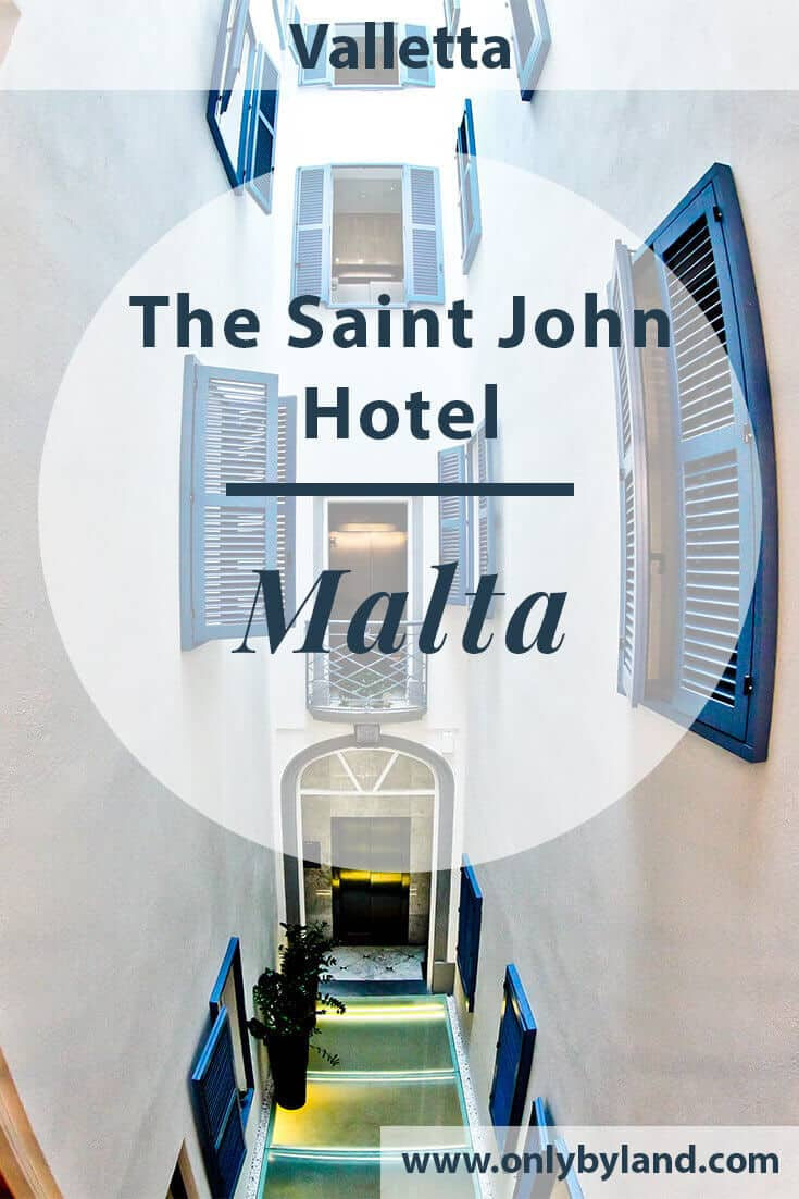 The Saint John Hotel Valletta - Travel Blogger Review