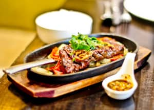 Sukhothai Restaurant, Leeds City Centre, Weeping Tiger, Main Course