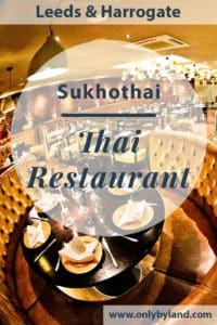 Sukhothai Authentic Thai Restaurant has locations in Leeds and Harrogate selling authentic Thai Food