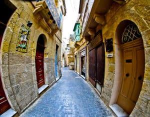 The streets of Victoria, Gozo Malta