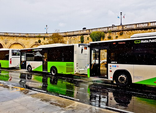 Local bus to get around Malta, Valletta bus station