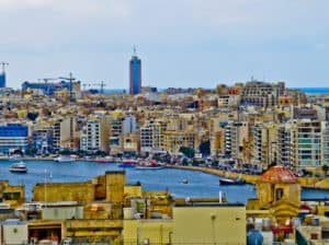 Sliema Bay viewed from Valletta
