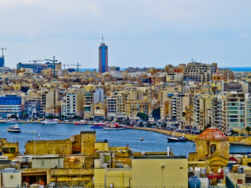 Things to do in Malta - Sliema Bay viewed from Valletta