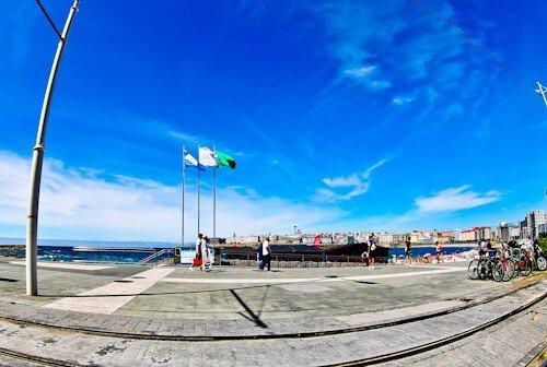 Promenade, La Coruña, Spain