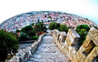 Sao Jorge Castle stairs, Lisbon