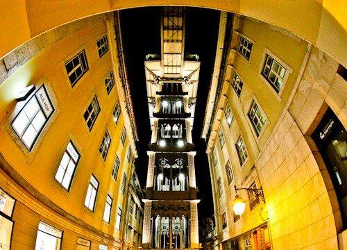 Santa Justa lift, Lisbon, Gustave Eiffel