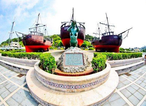 3 galleons, Magdalena Peninsula, Santander, Spain