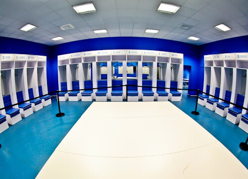 Olympique de Marseille, Orange Velodrome, Stadium tour, Home Team Dressing Room