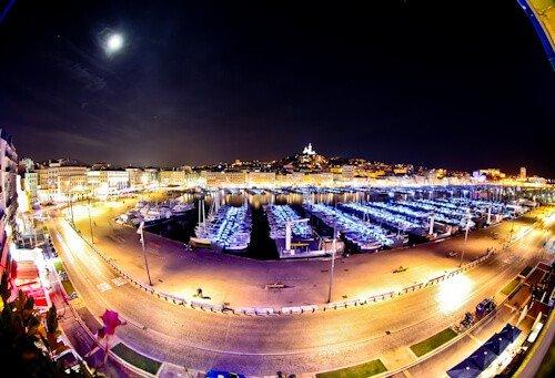 Marseille Old Port and Notre Dame de la Garde