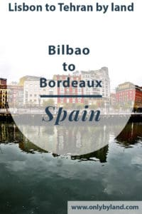 A visit to the points of interest of Bilbao including before taking the bus to Bordeaux