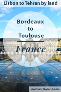 A visit to the points of interest of Bordeaux including Place de la Bourse, Bordeaux cathedral, Grand Theater, Passerelle Eiffel, Pont de Pierre, Tour Pey Berland, Burgundy Gate, Bordeaux football stadium before taking the bus to Toulouse