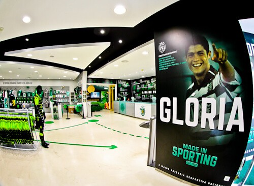 Sporting Lisbon stadium tour, club shop