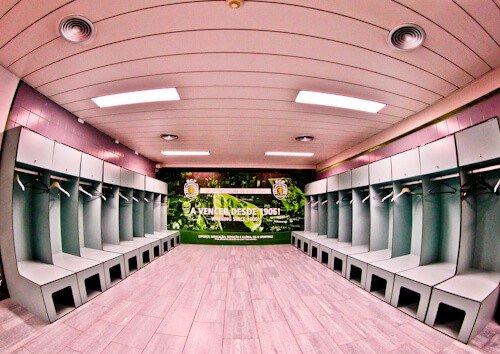 Sporting Lisbon stadium tour - away team dressing rooms