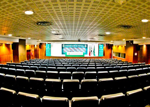 Sporting Lisbon stadium tour - Press room