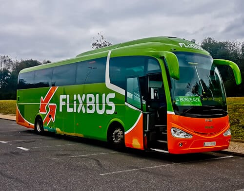 Flixbus from Bilbao to Bordeaux.