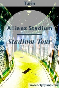 a tour of the Allianz stadium, home of Juventus in Turin