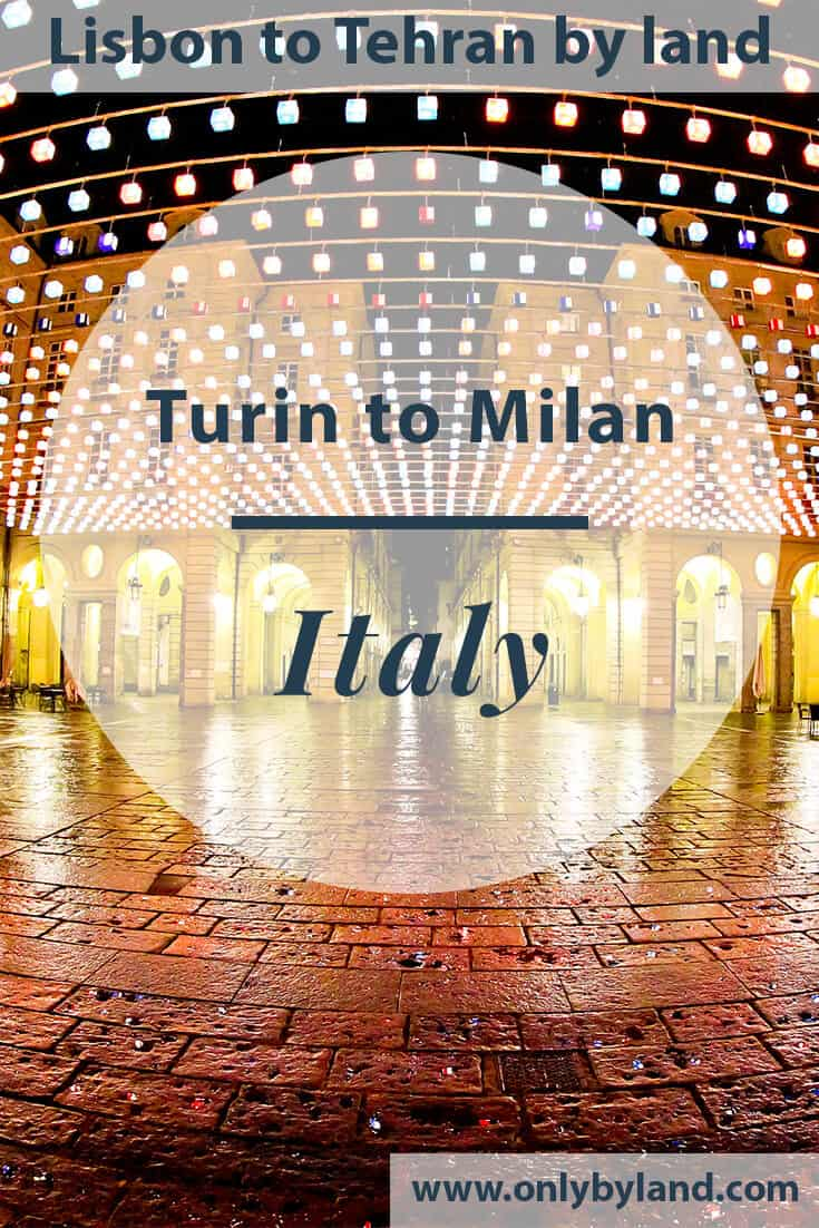 Turin to Milan by bus