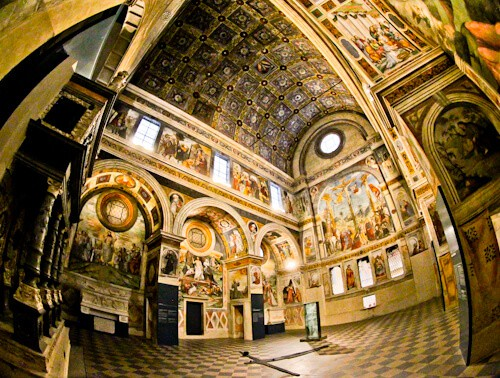 The nun's choir of the monastery of San Salvatore, UNESCO site in Brescia