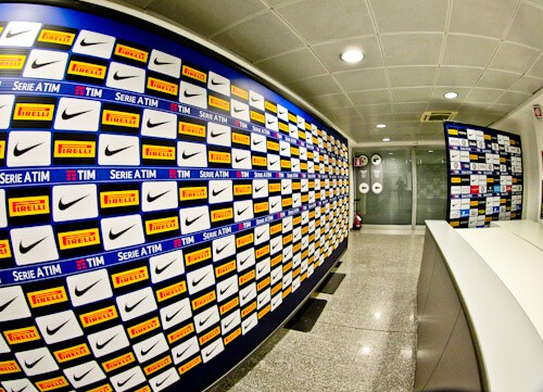 Inter Milan / AC Milan San Siro Stadium Tour - press interview area