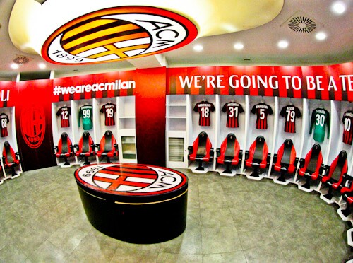 Inter Milan / AC Milan San Siro Stadium Tour - AC Milan dressing rooms