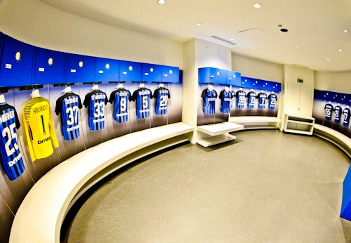 Inter Milan / AC Milan San Siro Stadium Tour - Inter Milan dressing rooms