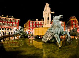 Fontaine du Soleil in Place Massena, Nice