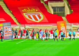 AS Monaco FC - matchday experience - Stade Louis II - pre match line up