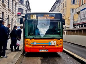 OGC Nice - matchday experience - Allianz Riviera stadium - free bus