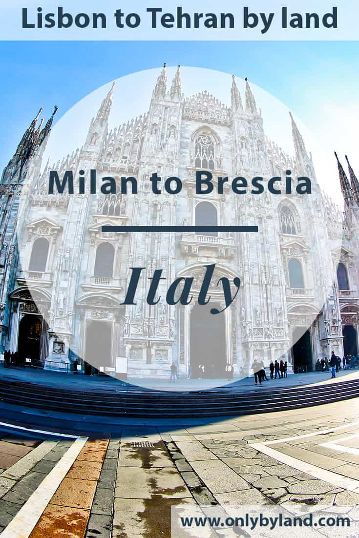 Milan to Brescia by train