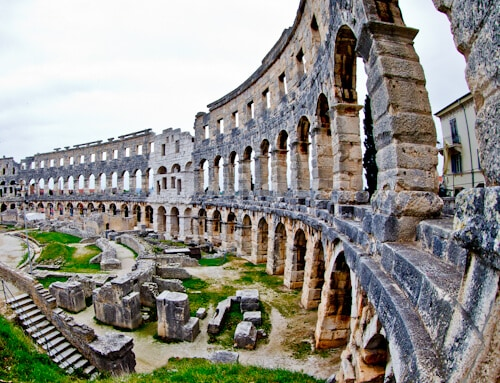Pula Arena Croatia Roman Amphitheater, Facts