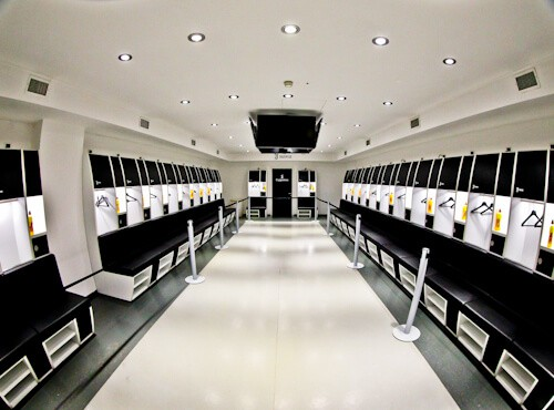 Juventus Allianz Stadium Tour, Turin - home team dressing room