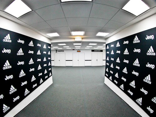 Juventus Allianz Stadium Tour, Turin - players tunnel