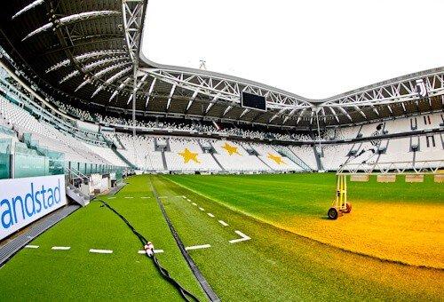 Juventus Allianz Stadium Tour, Turin - pitch side