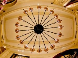 Victoria Hotel Letterario Trieste, Murano handmade glass chandelier