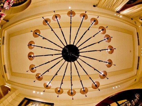 Victoria Hotel Letterario Trieste, murano glass chandelier